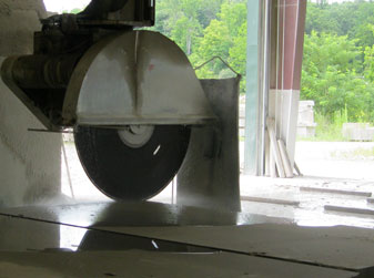 Circular Saw in Limestone Mill